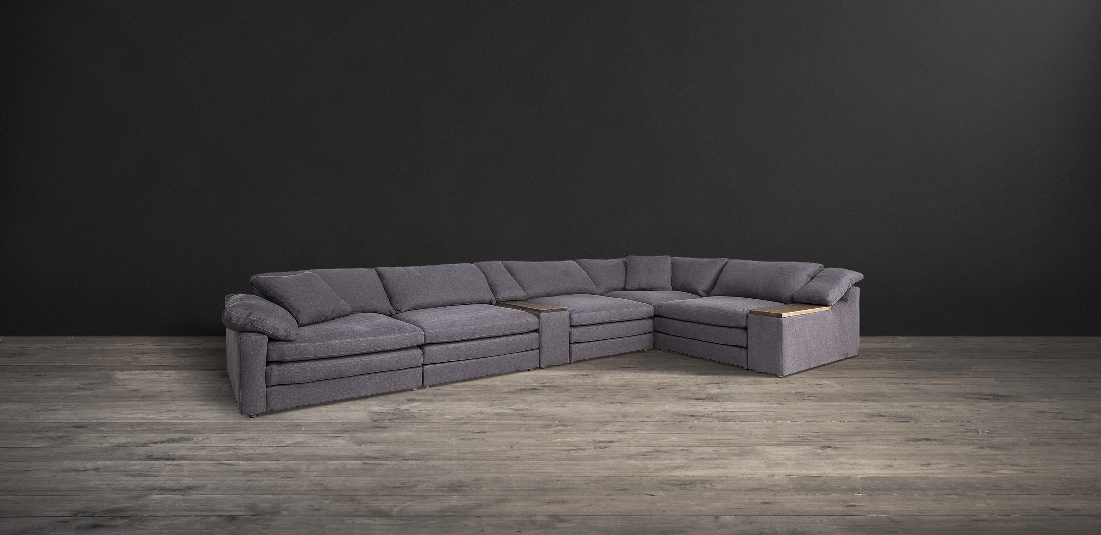 Timothy Oulton sectional sofa in grey fabric - Alto