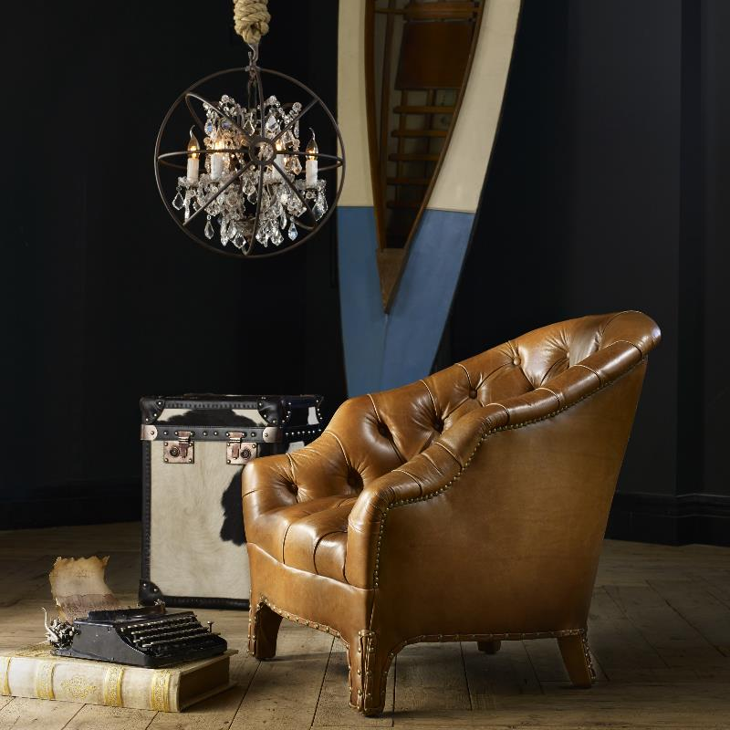 Leather & Fabric Armchair - Branco | Timothy Oulton