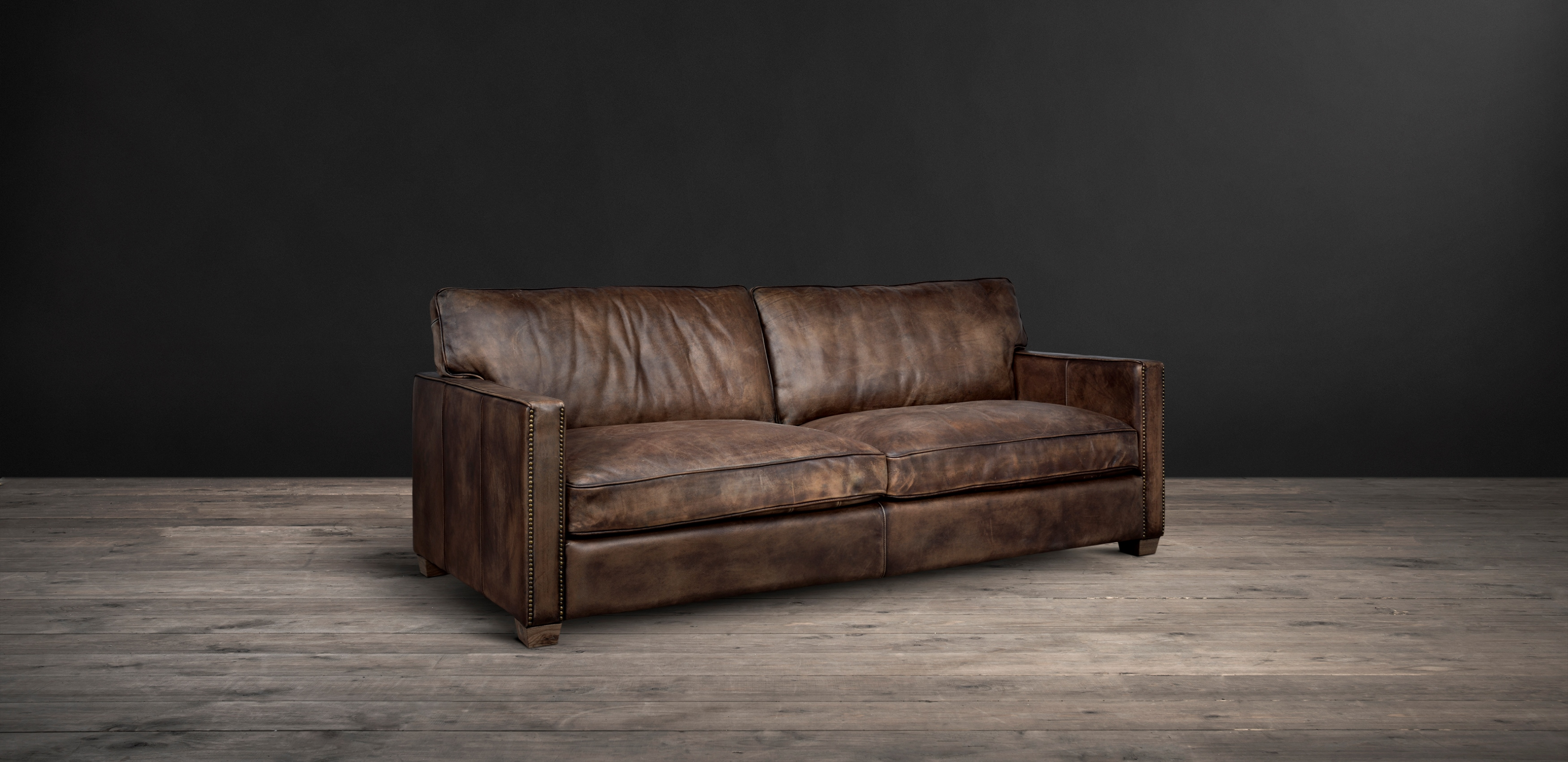 Timothy Oulton Classic Leather Sofa - Viscount William Leather Sofa from side