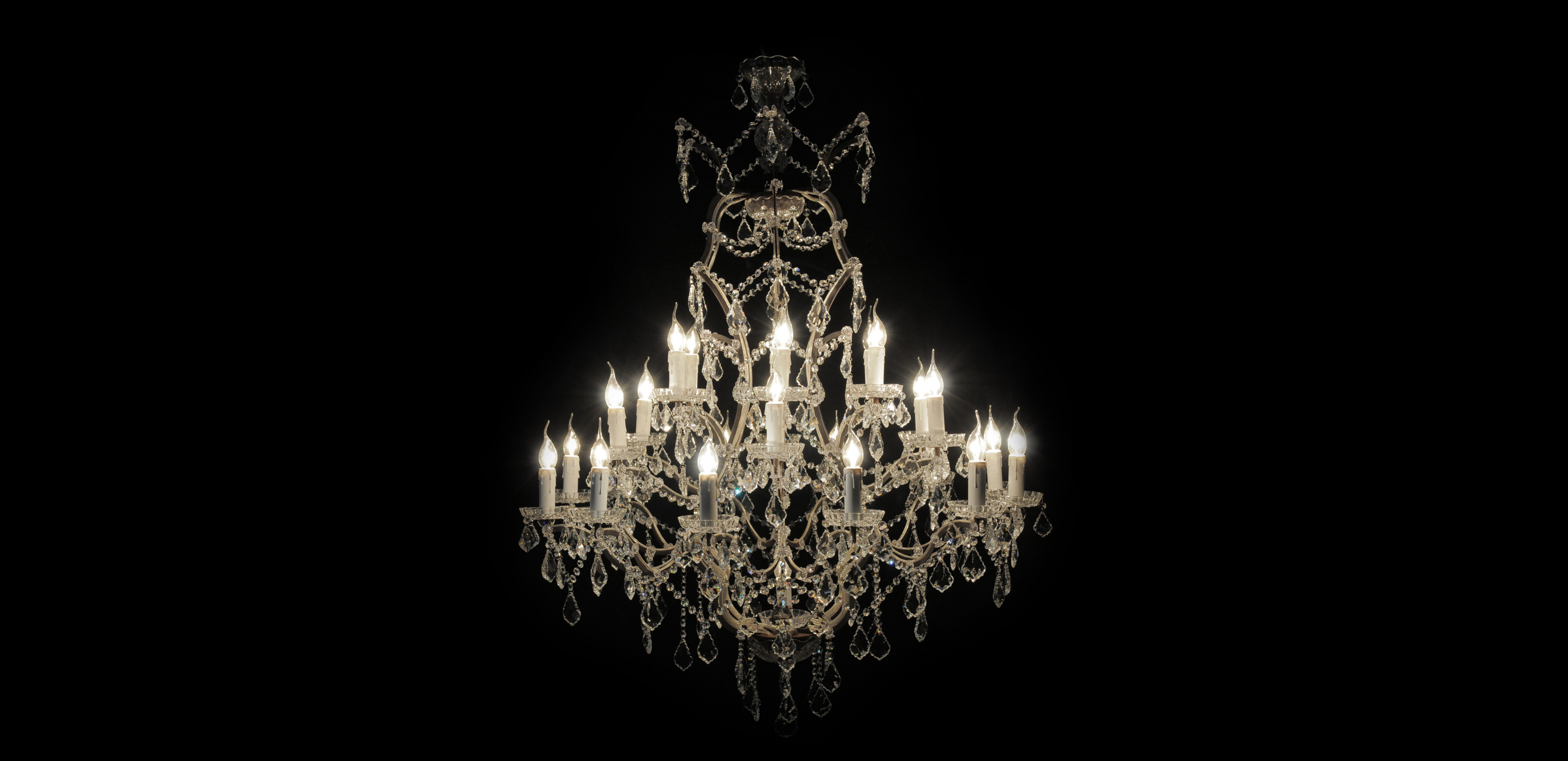 Timothy Oulton Crystal Chandelier - Natural