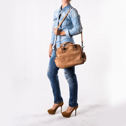 Briston weekender - Tinossi Camel leather