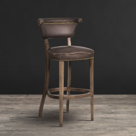 Angeles Barstool shown in Vagabond Brown & Weathered Oak