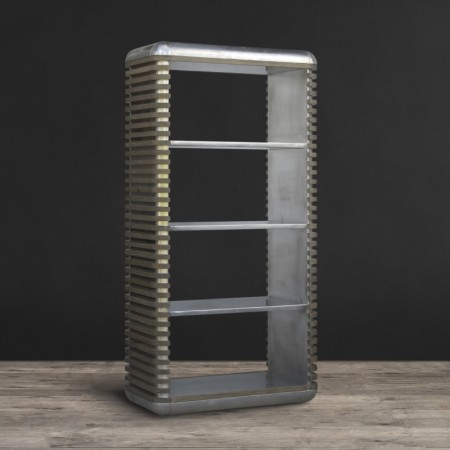 Bookcase Castaway - Aluminium & Beached