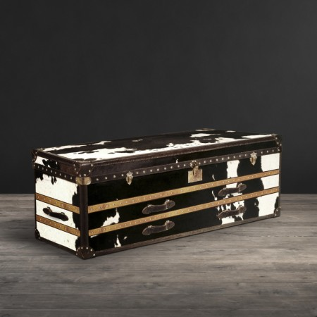 Harrow Trunk in Moo black and white