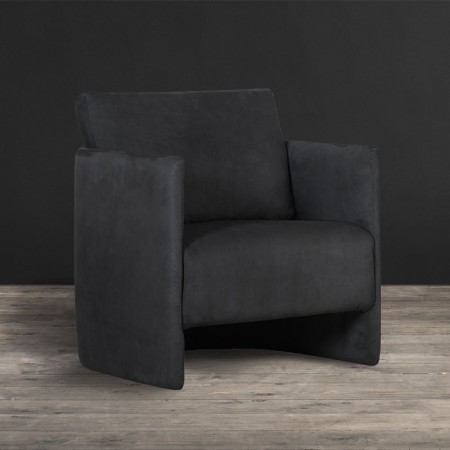Leather & Fabric Armchair - Kimono | Timothy Oulton