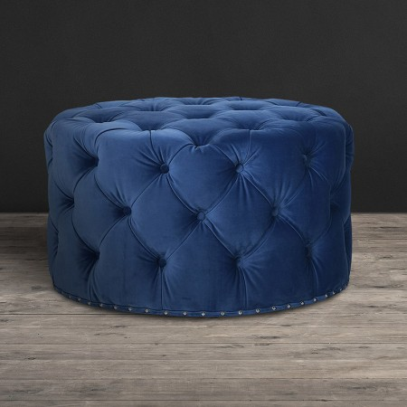 Lord Digsby Round Footstool