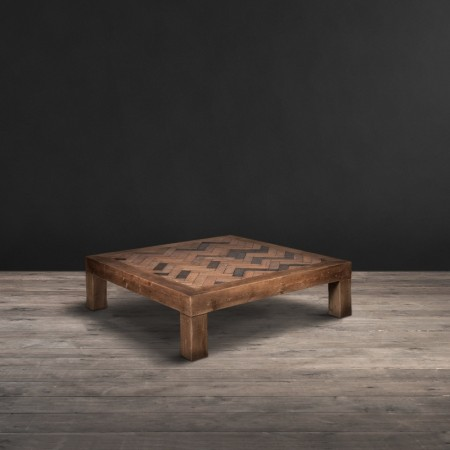 Museum coffee table Reclaimed Oak Parquet Flooring