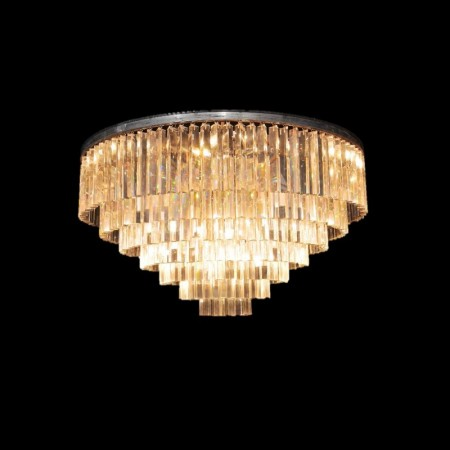 Odeon Chandelier Large 7 Ring shown in Natural