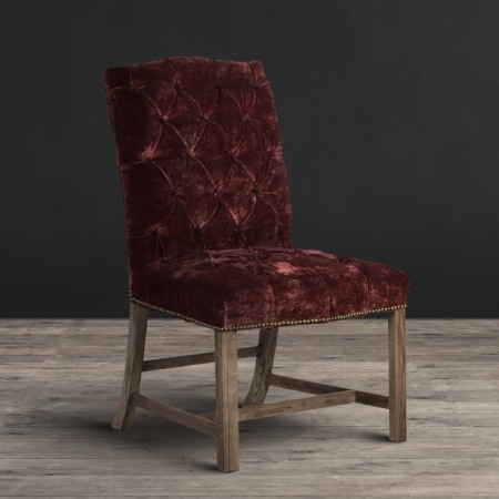 Dining Chair - Siren Rose Moleskin & Weathered Oak