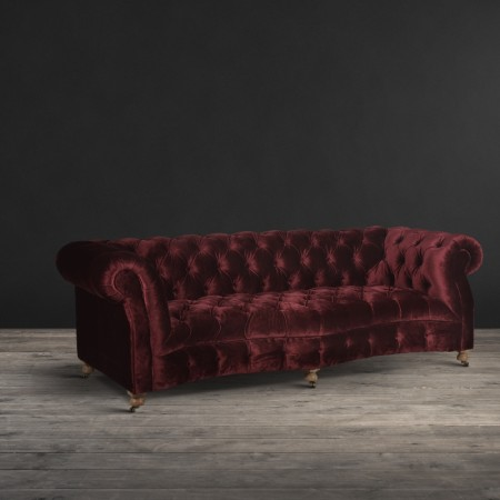 Serpentine Sofa shown in Siren Rose