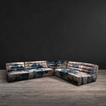 Shabby sectional sofa Faded & Degraded