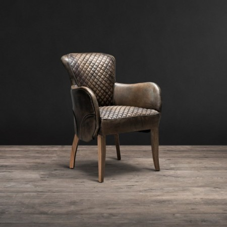 Side Saddle armchair shown in Vagabond Black&Weathered Oak