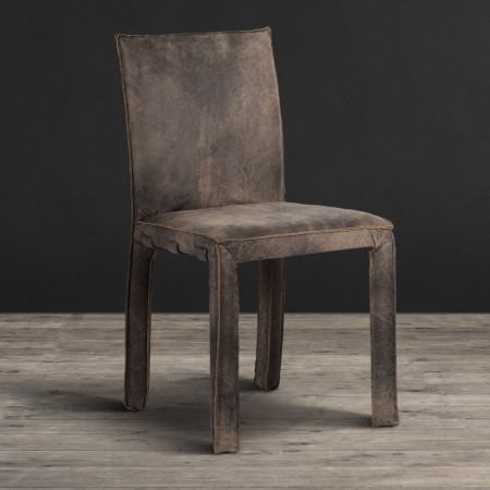 Dining Chair - Scarecrow Black leather