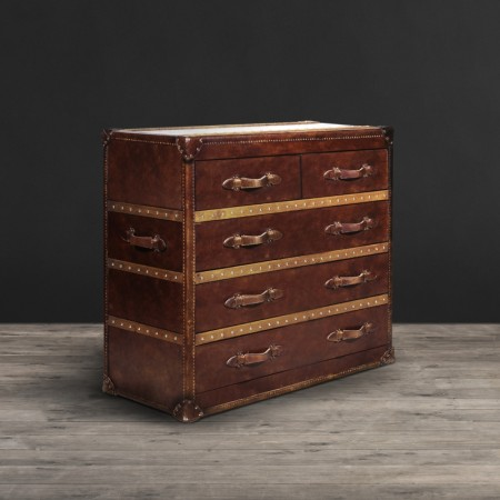 Stonyhurst chest in Vintage Cigar leather