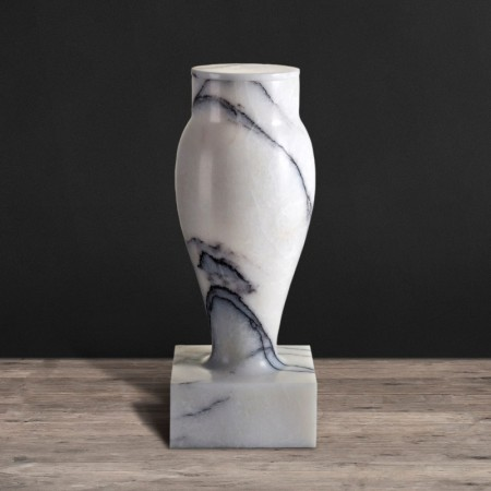 Flambeau marble candle holder