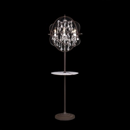 Gyro Crystal Floor Lamp with Tray