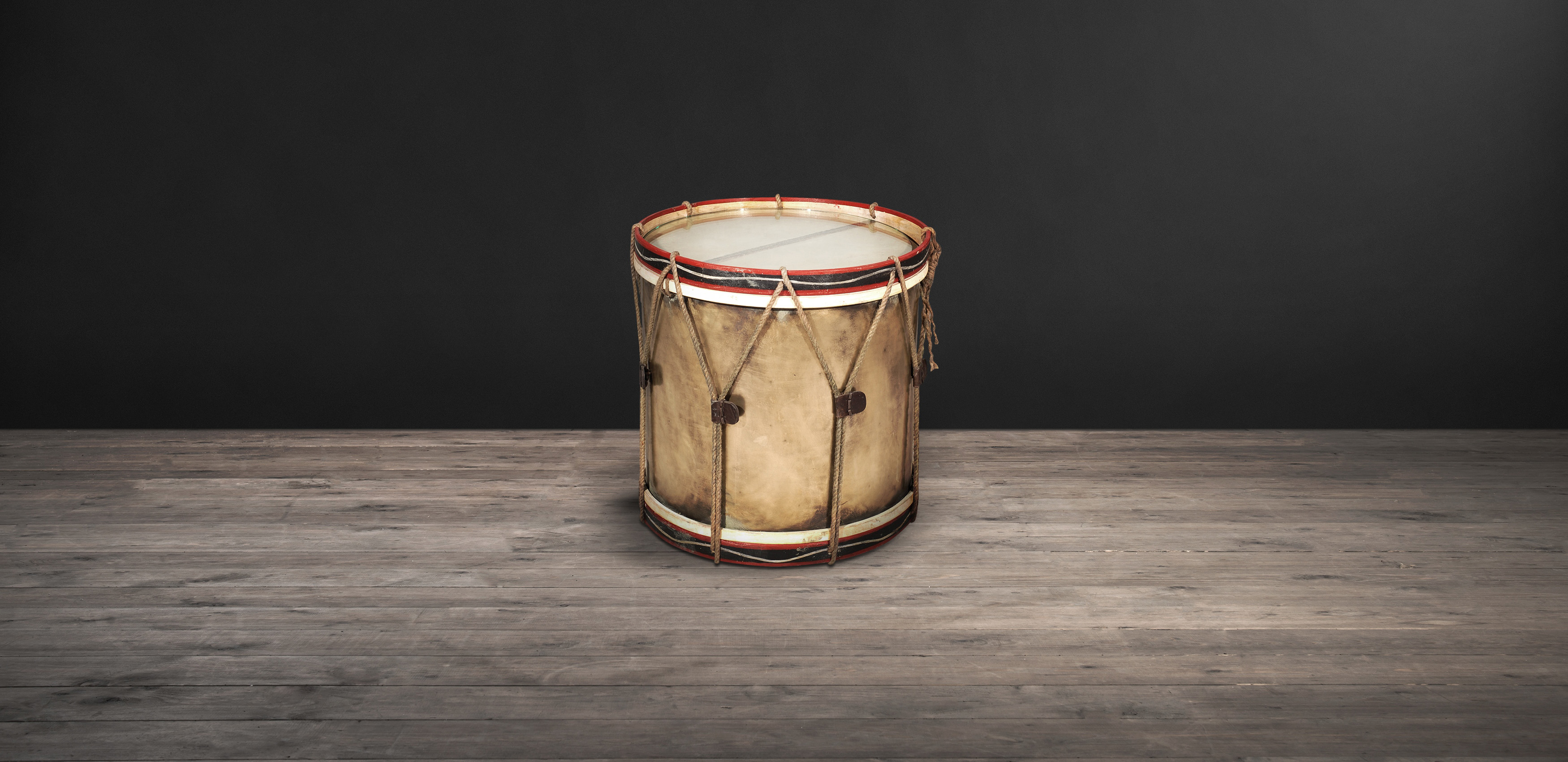 Brass & Wood Side Tables – Drums