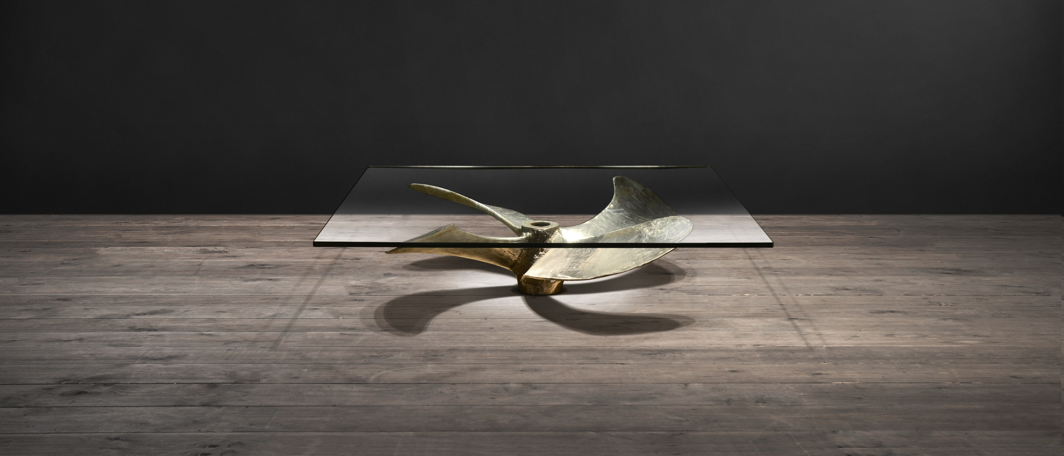 Glass Coffee Tables – Junk Art Propeller