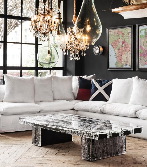 Acrylic & Wood Coffee Tables – Glacier  Timothy Oulton