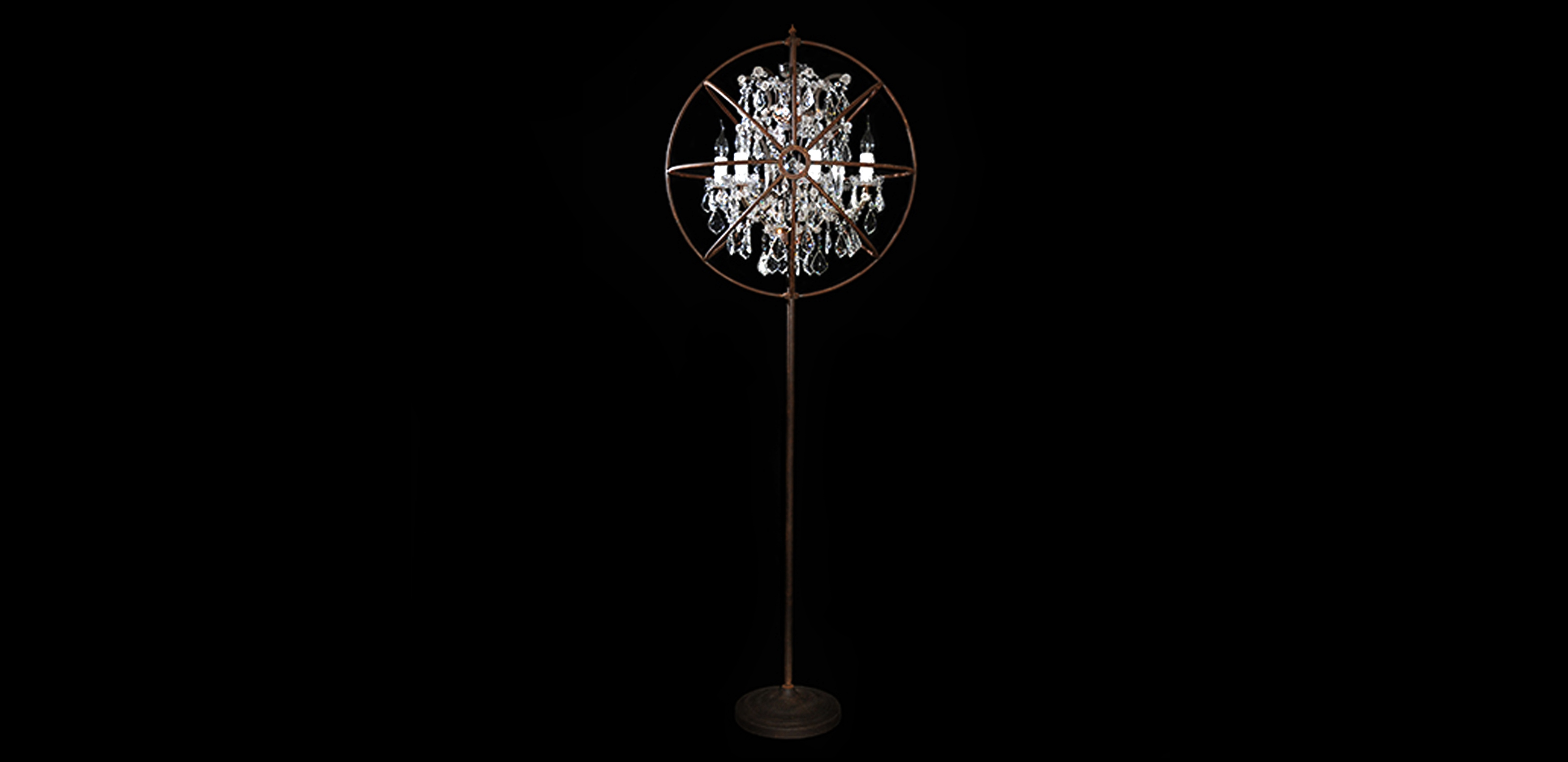 Crystal chandelier floor lamp -  Crystal Chandelier Floor Lamp Prev
