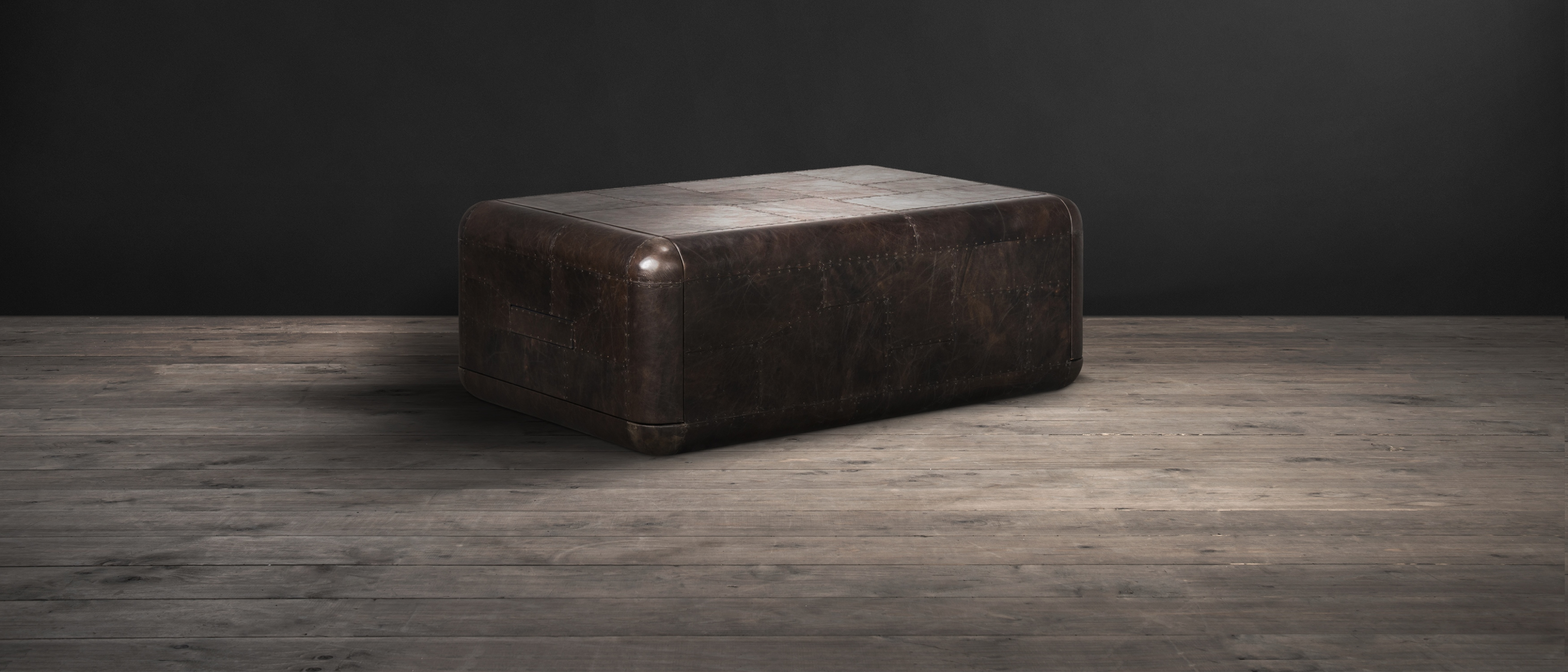 leather ottoman coffee tuffed sophisticated table square