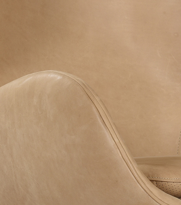 Leather & Fabric Armchair - Cub | Timothy Oulton