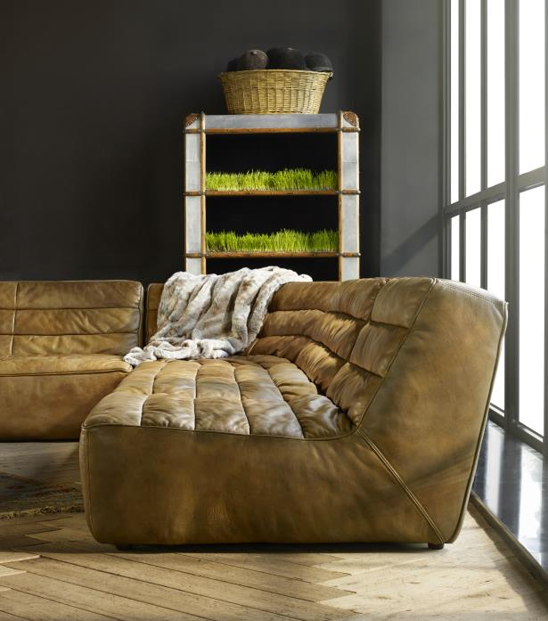 Timothy Oulton Shabby Sectional Sofa - Savage Leather