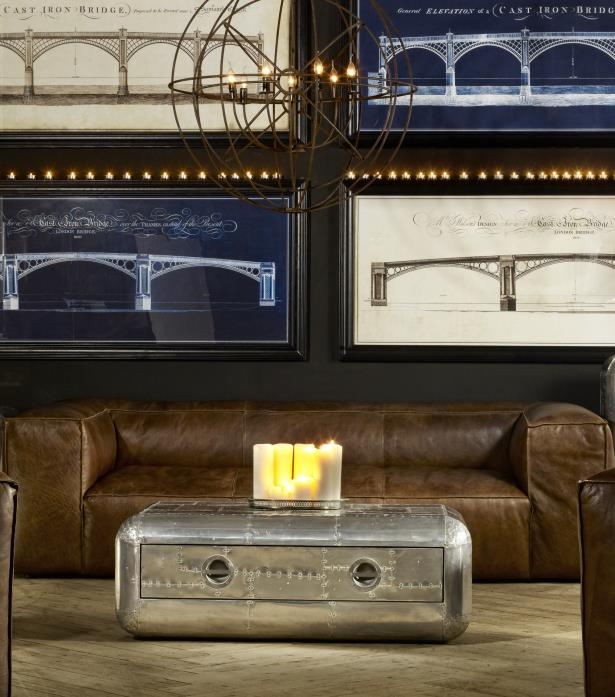 Aviator Blackhawk Coffee Table Shown In Spitfire