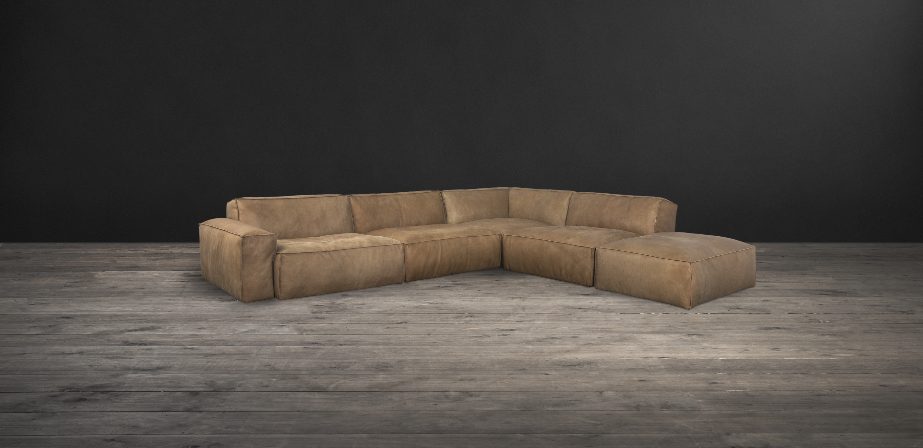 Leather & Fabric Sectional Sofas Nirvana