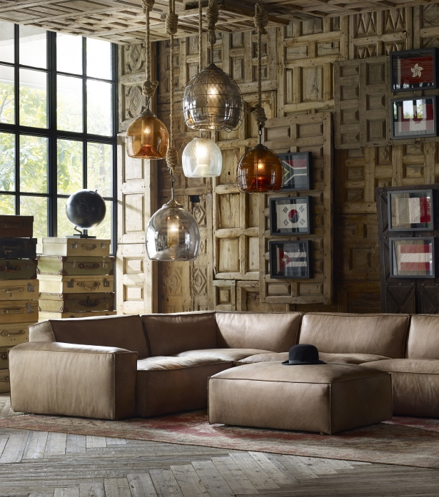 Leather & Fabric Sectional Sofas - Nirvana Large | Timothy ...