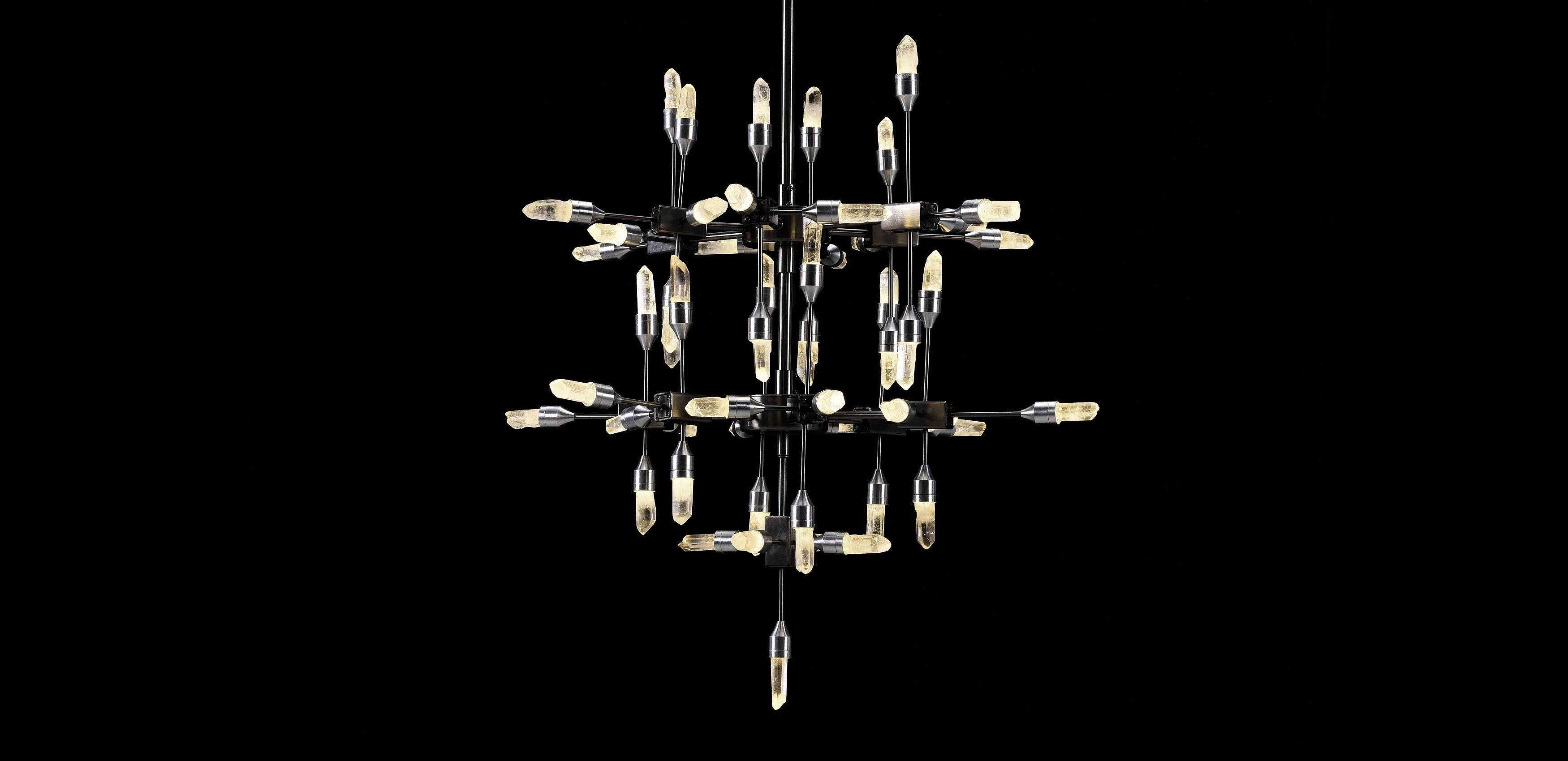 Rock Crystal Rain Chandelier | Timothy Oulton
