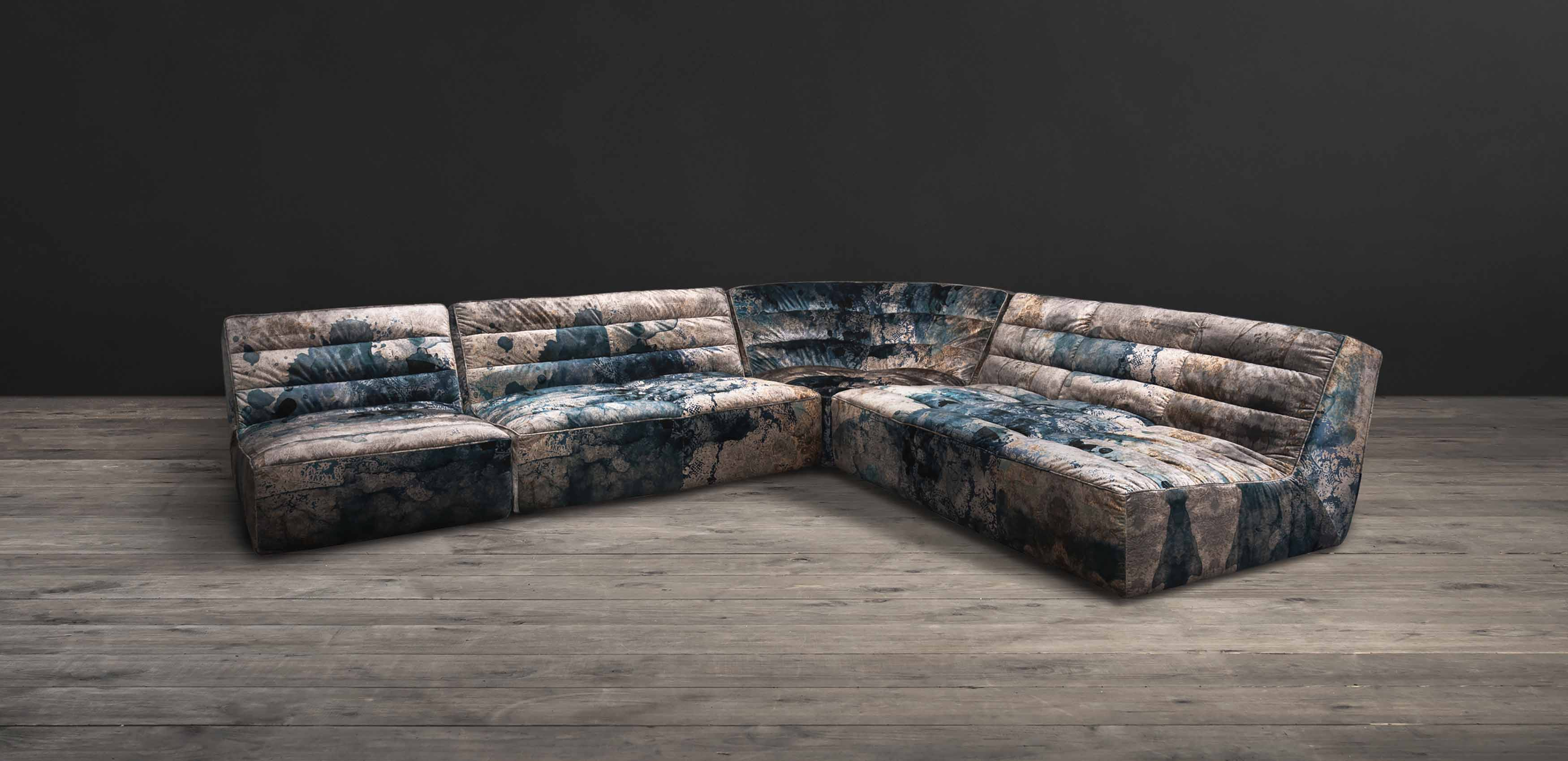 Shabby Leather Sectional Sofa | Timothy Oulton