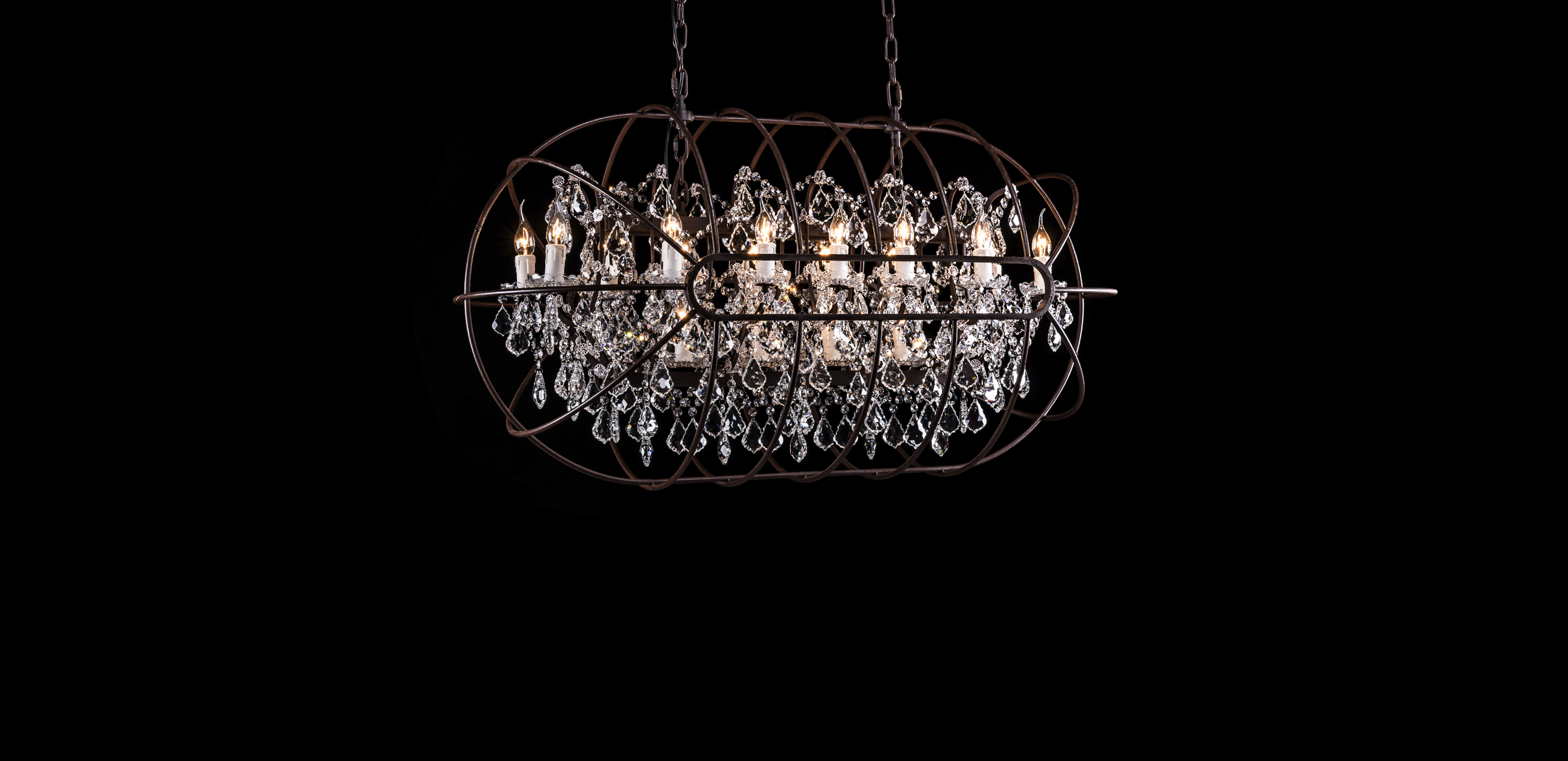 Timothy oulton rectangular chandelier - Gyro Crystal