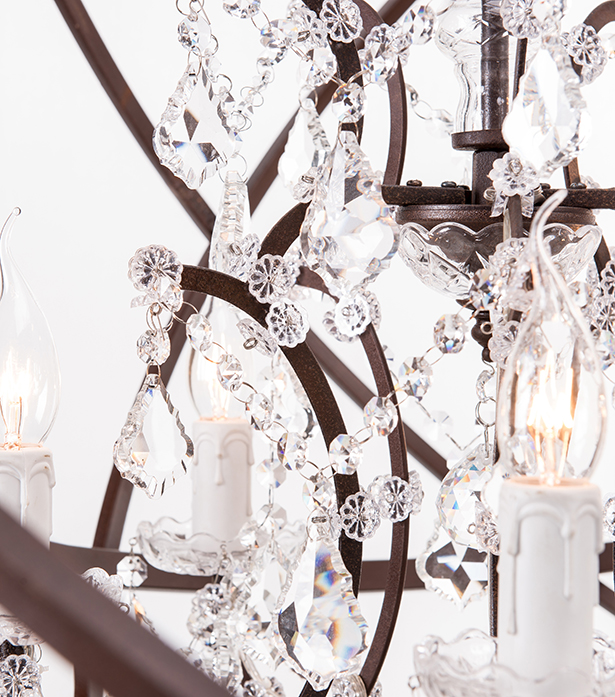 Timothy Oulton crystal chandeliers - Orb Crystal