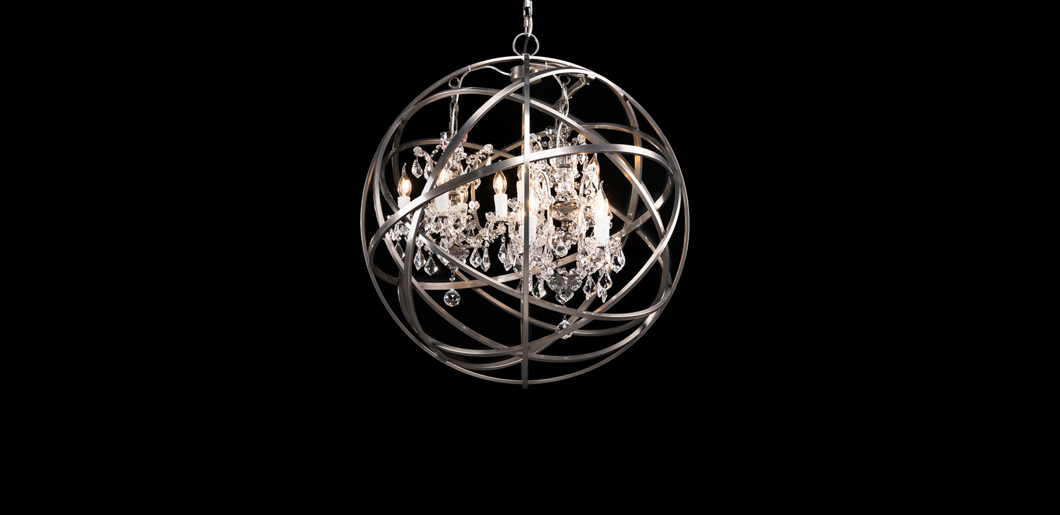 Vintage Inspired Chandeliers Orb Crystal