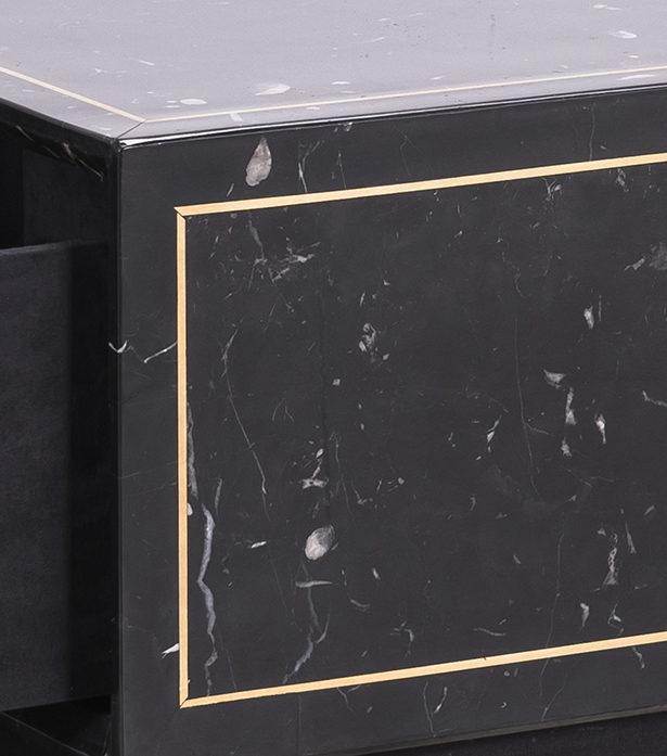 Timothy Oulton coffee table in black marble - Colosseum