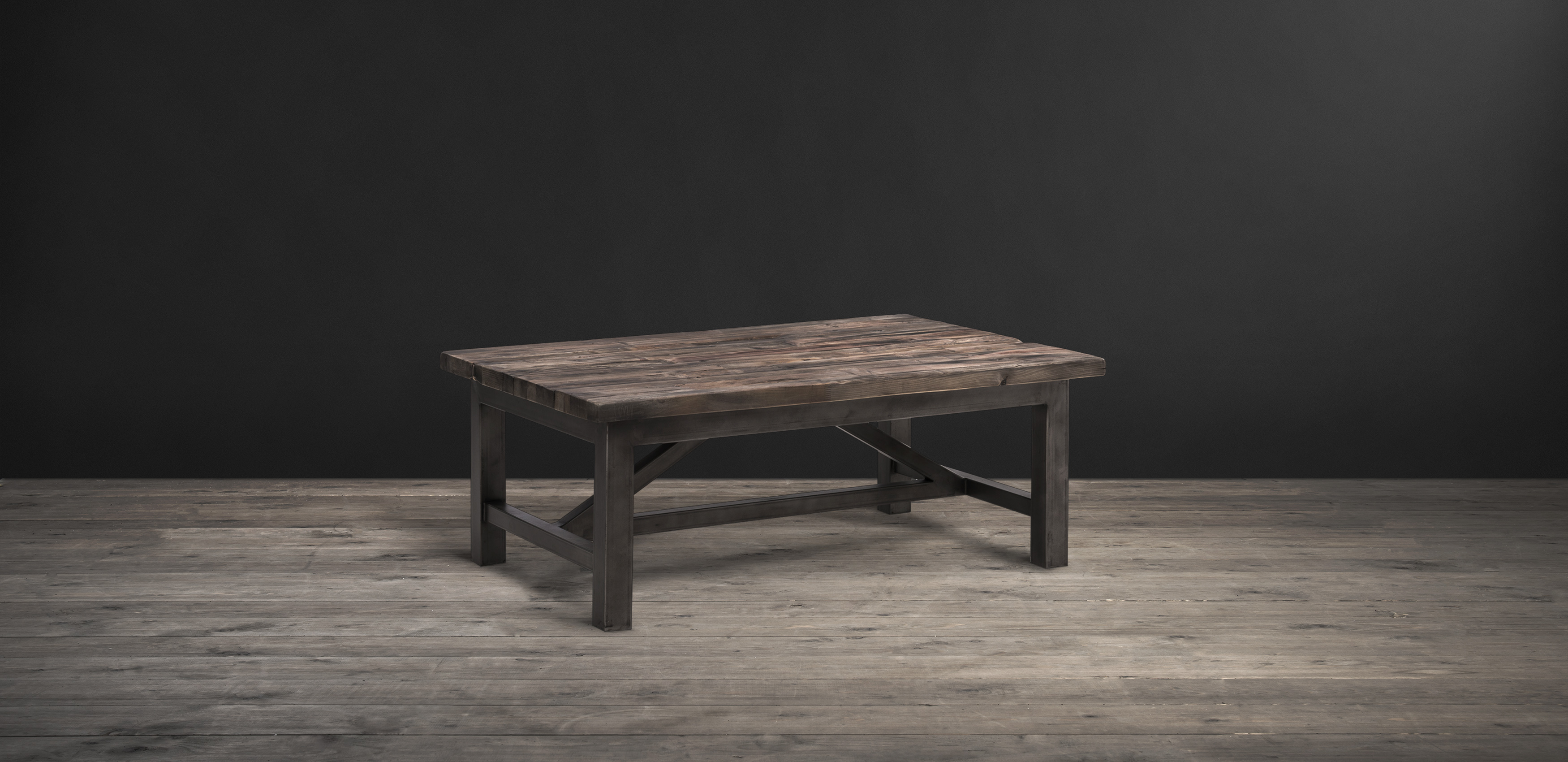 Timothy Oulton Coffee Table In Reclaimed Wood   Axel Parquet