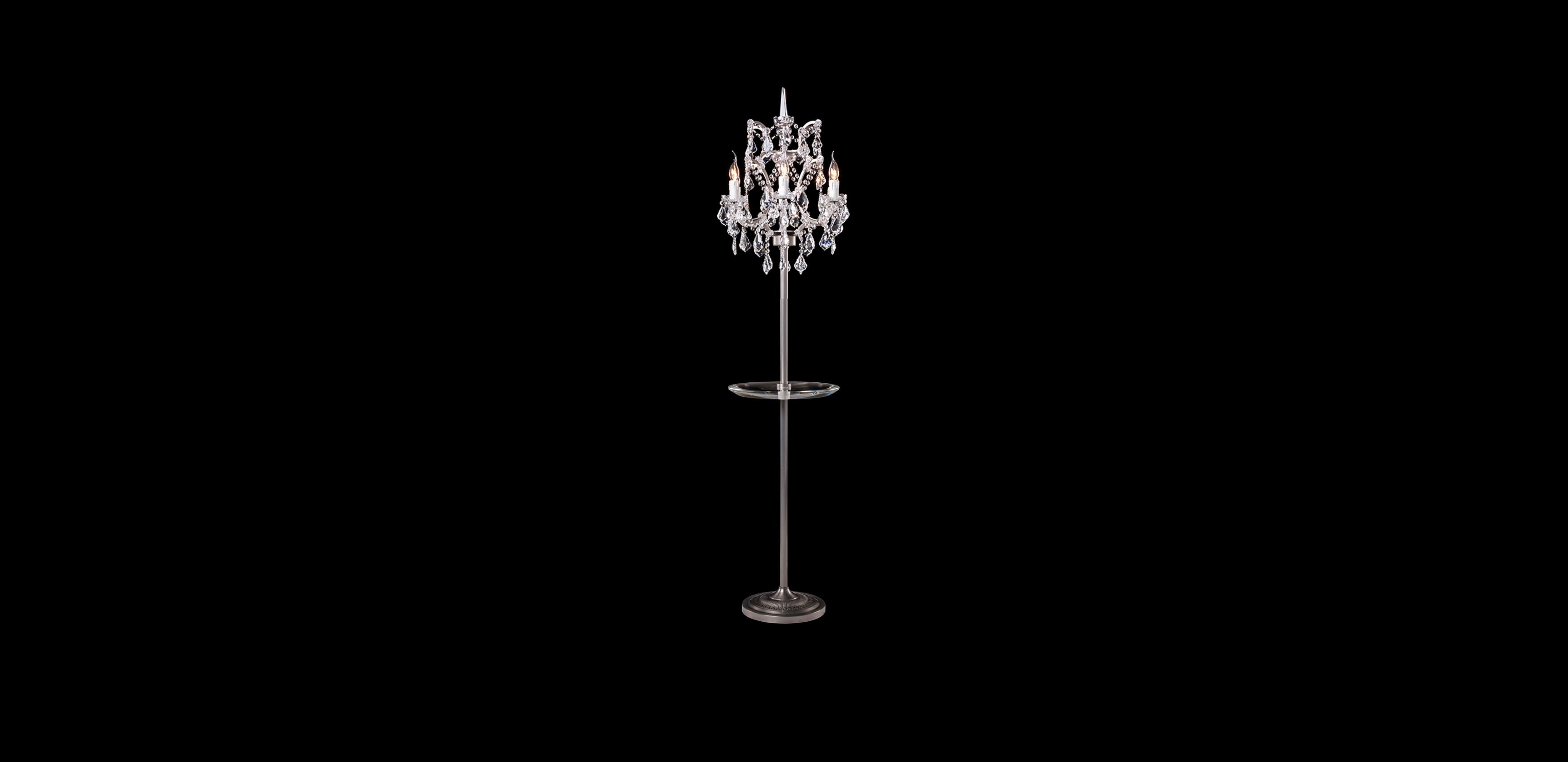 Floor Lamps with Tray Crystal