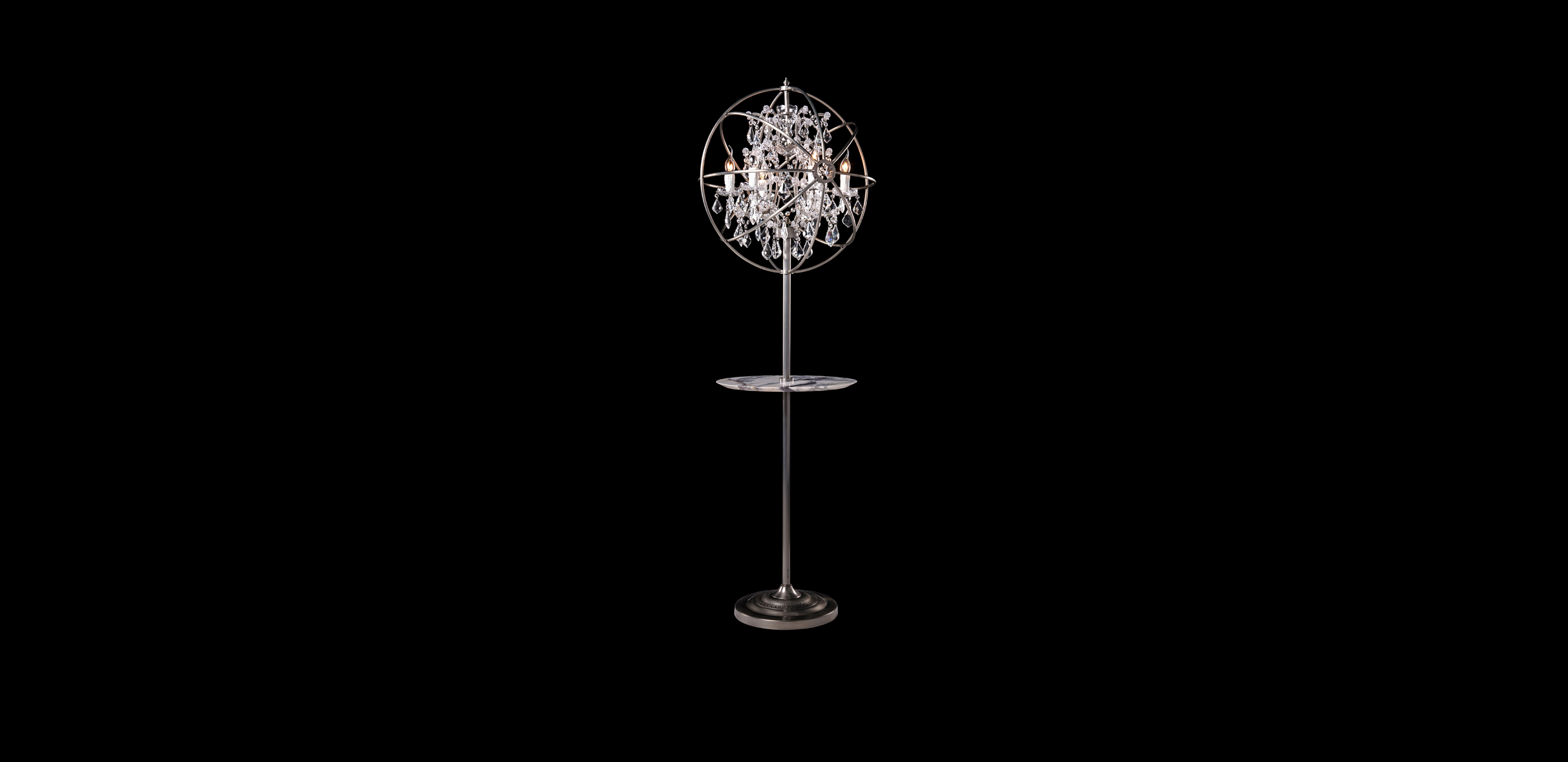 Timothy Oulton floor lamp with tray - Gyro Crystal
