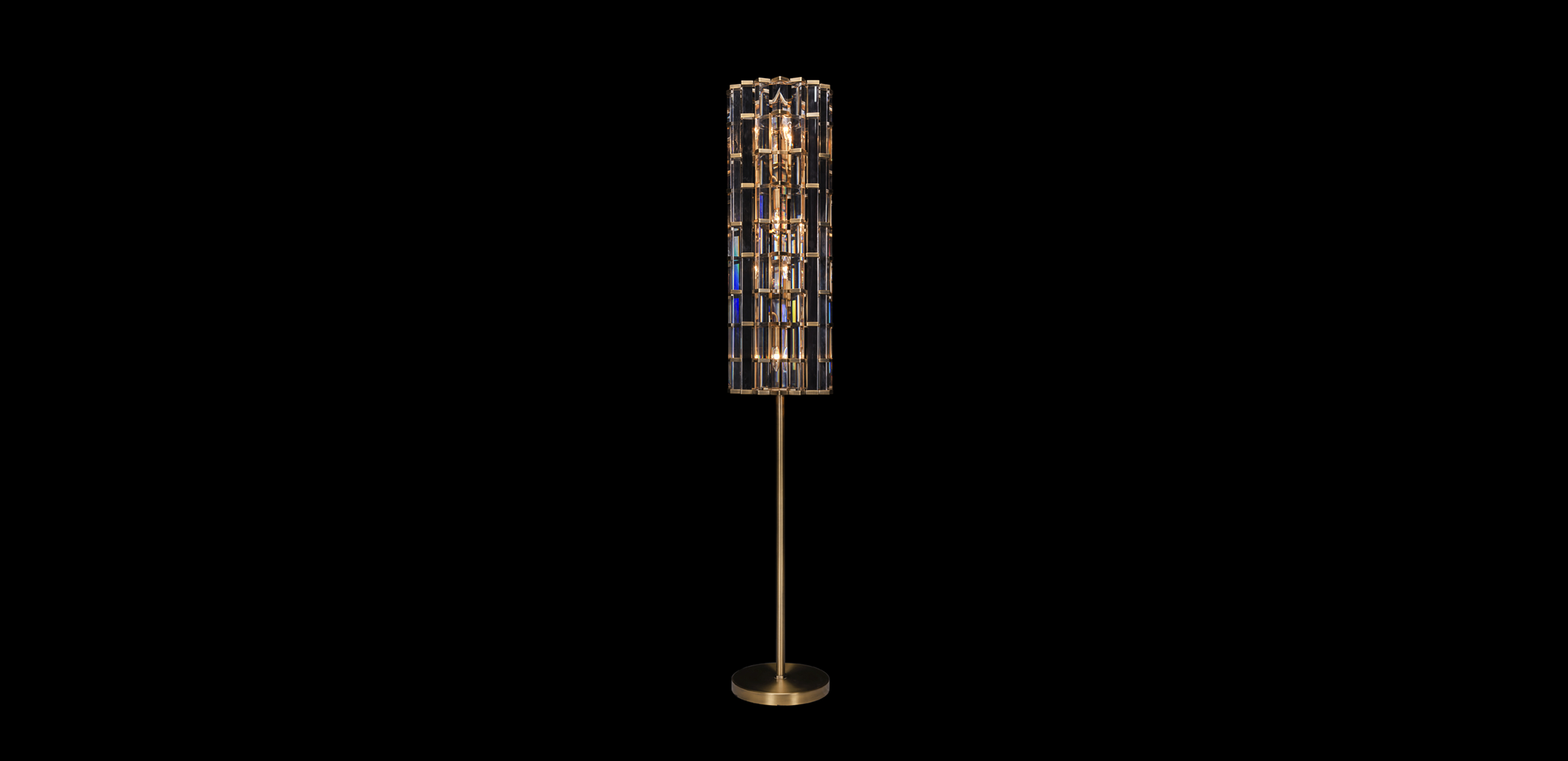 Timothy Oulton floor lamp in plated bronze - Night Rod