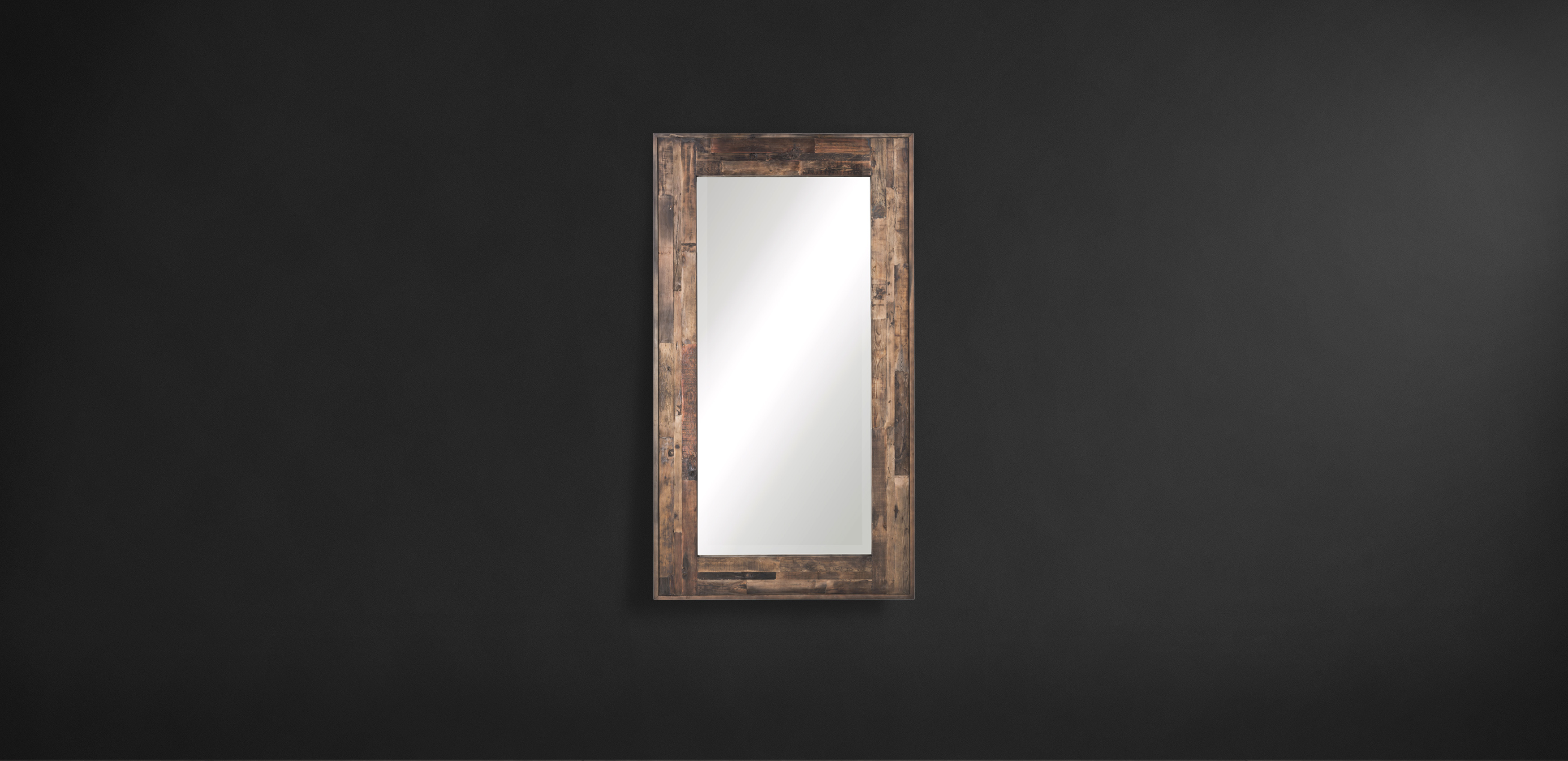 Timothy Oulton reclaimed wood mirror - Axel Parquet