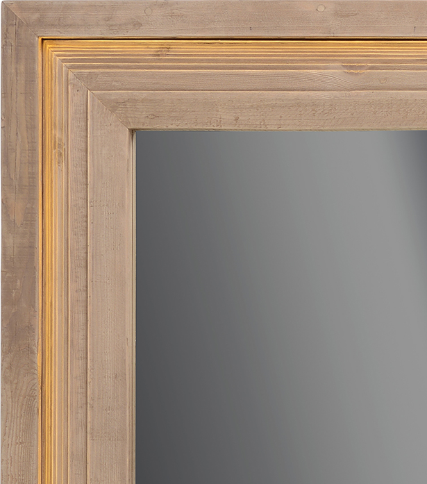 Timothy Oulton wooden light mirror - Moulding