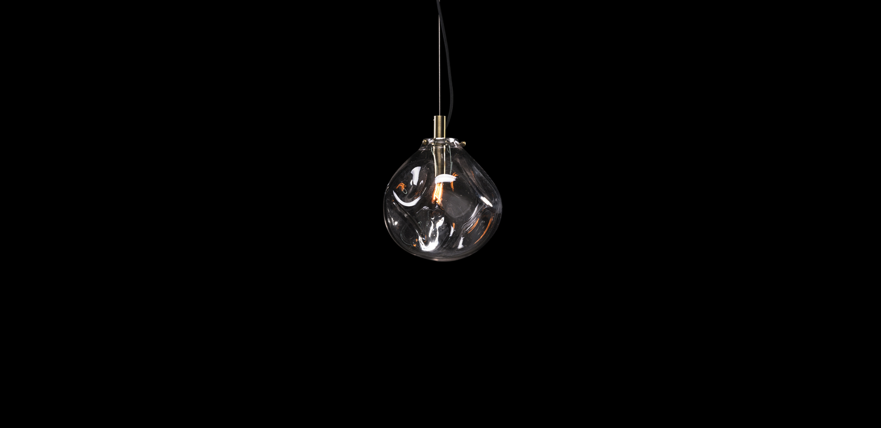 Timothy Oulton glass pendant - Lava