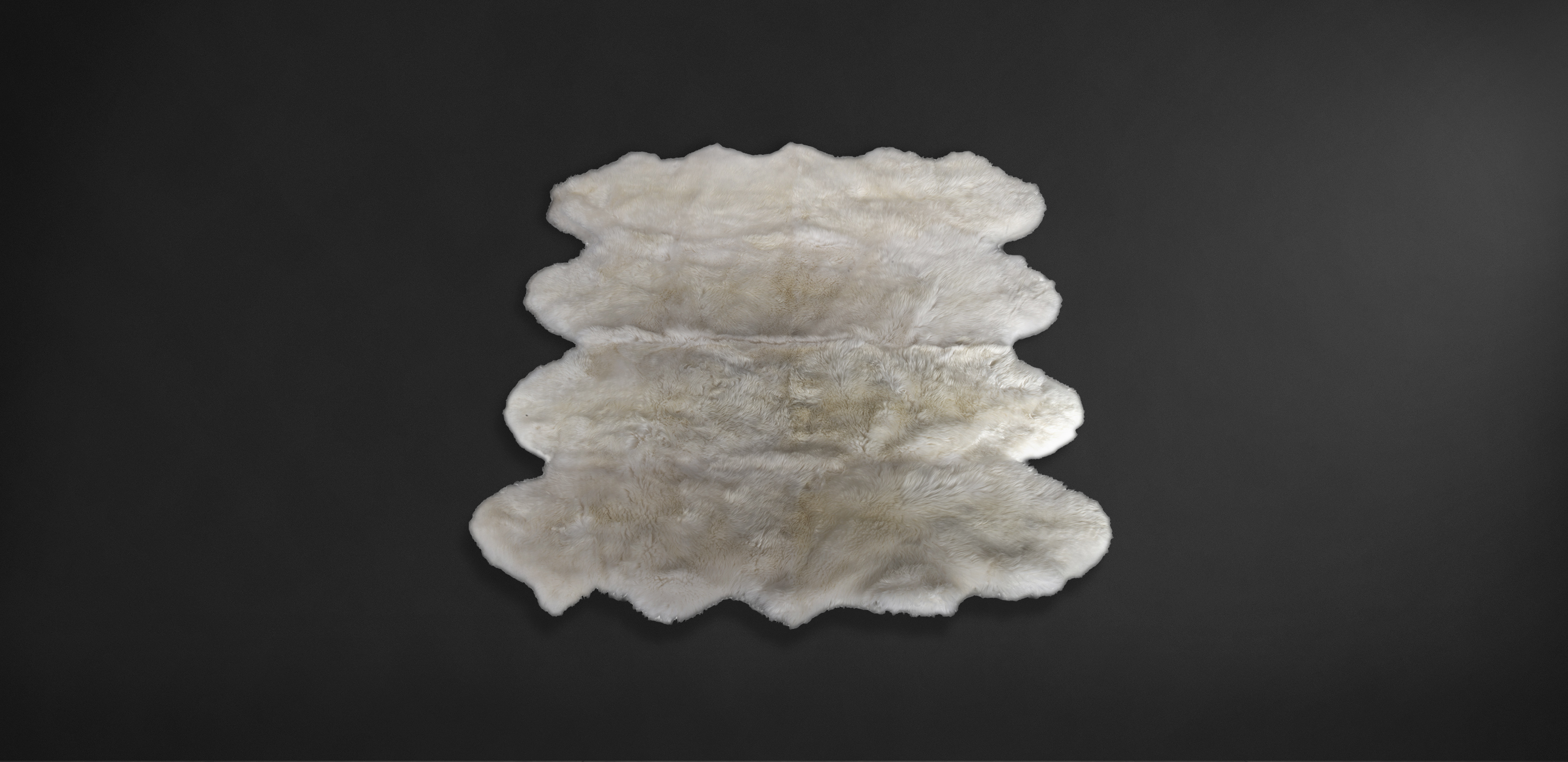 Timothy Oulton white sheepfur rug