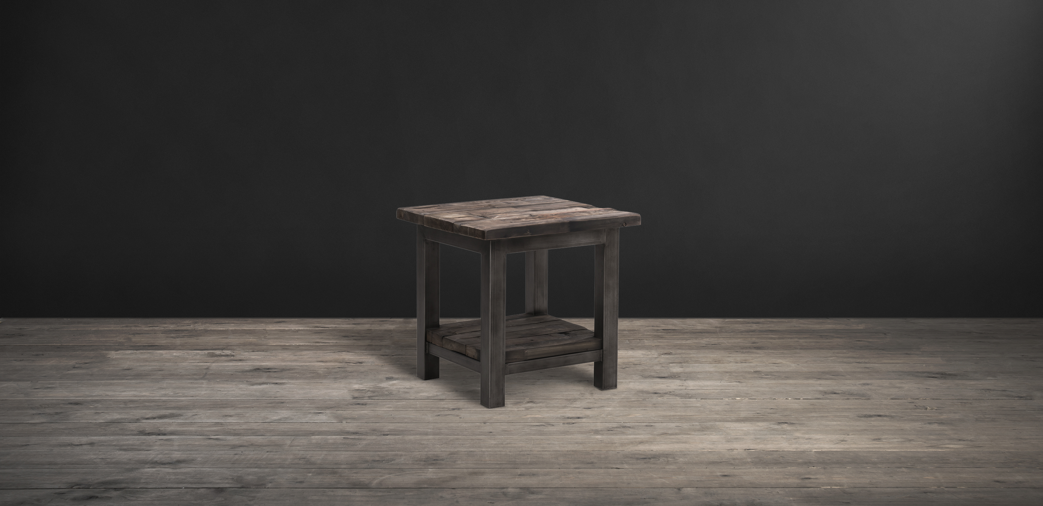 Timothy Oulton side table in reclaimed wood - Axel Parquet