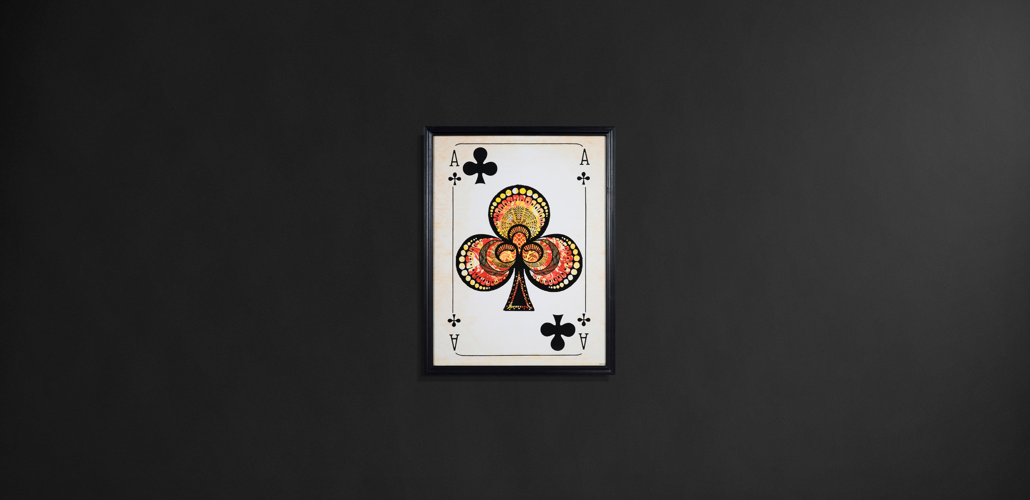 Timothy Oulton wall art - Card Aces
