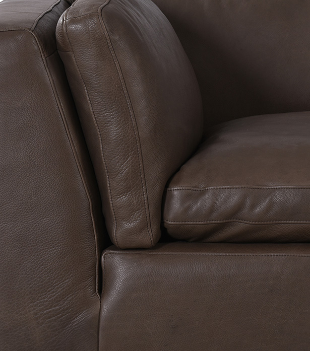 Leather and Fabric Sectional Sofa - Zenna Small | Timothy Oulton