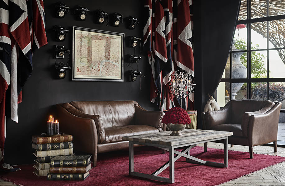 Six Leather Sofas, Six Different Living Room Looks