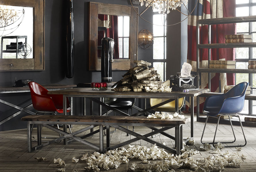 Rustic furniture - Axel MK2 dining table | Timothy Oulton reclaimed wood dining table