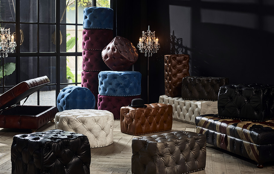 Chesterfield Redux Vol 2 - Tuft Love | Timothy Oulton Lord Digsby Footstools